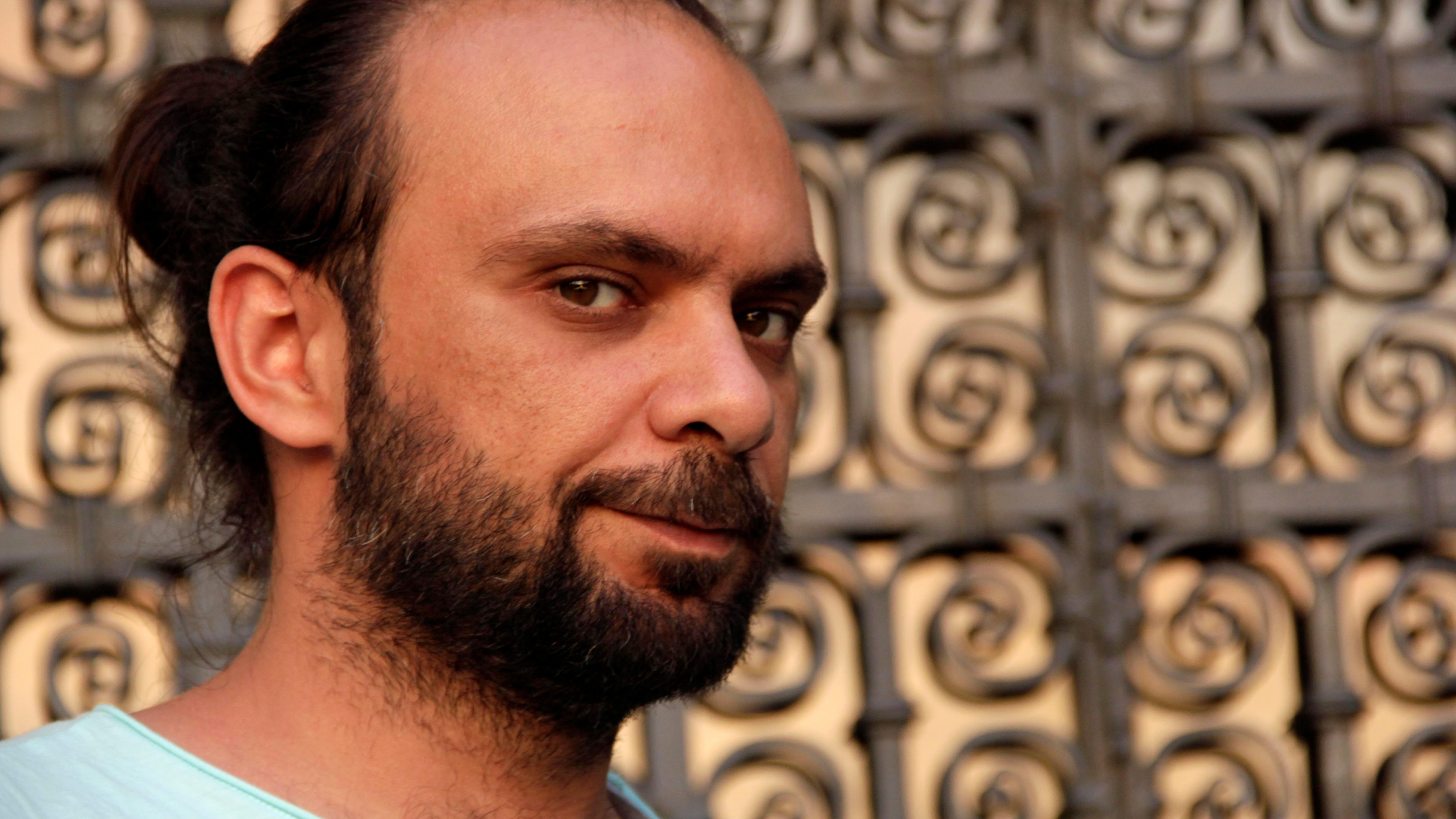Der syrische Schriftsteller Yamen Hussein