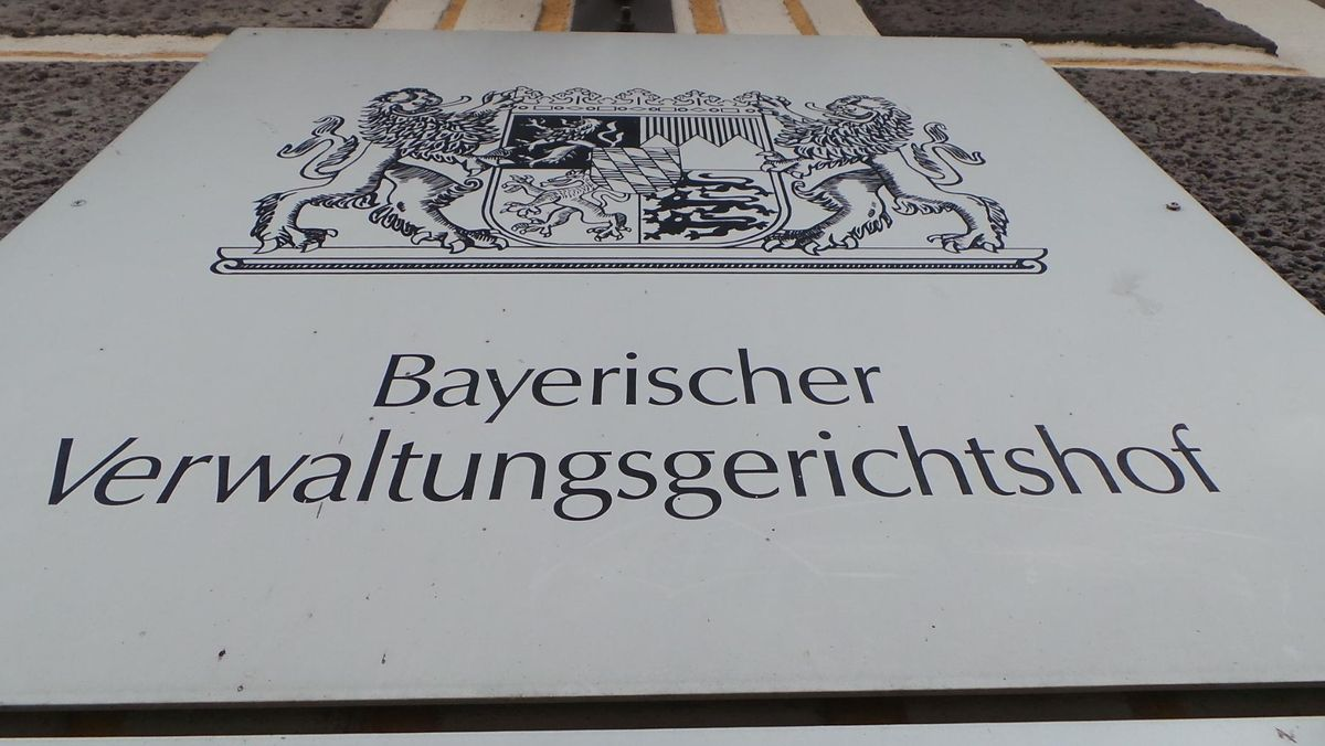 """Schild """"Bayerischer Verwaltungsgerichtshof"""""""