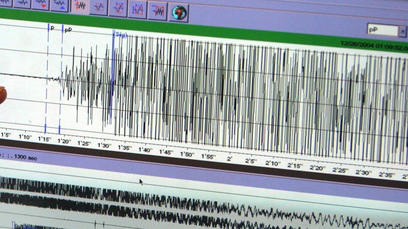 Ausschlag eines Seismographen (Symbolbild)