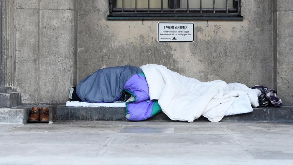 Obdachloser in München | Bild:dpa-Bildfunk