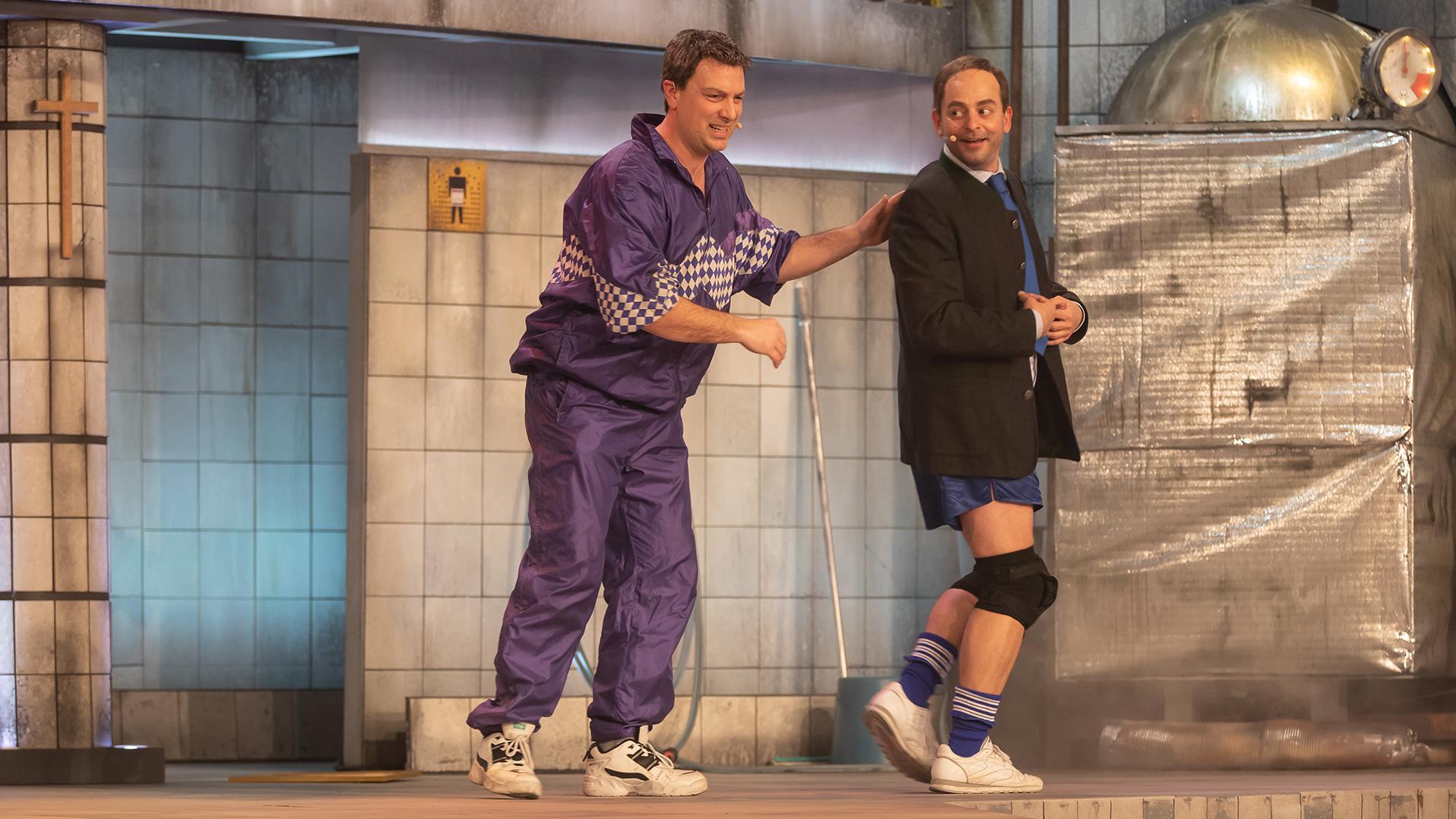 Söder (Stephan Zinner) und Aiwanger (Florian Fischer) im Duett.