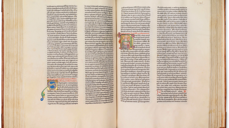 Die seltene Gutenbergbibel soll eine Million Euro bringen