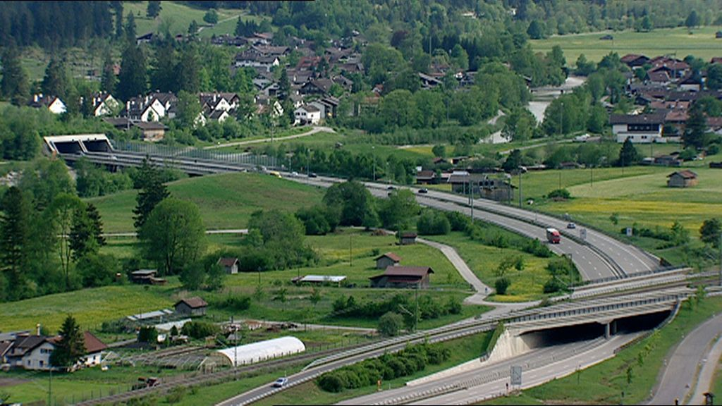 Die Umgehungsstraße von Farchant.