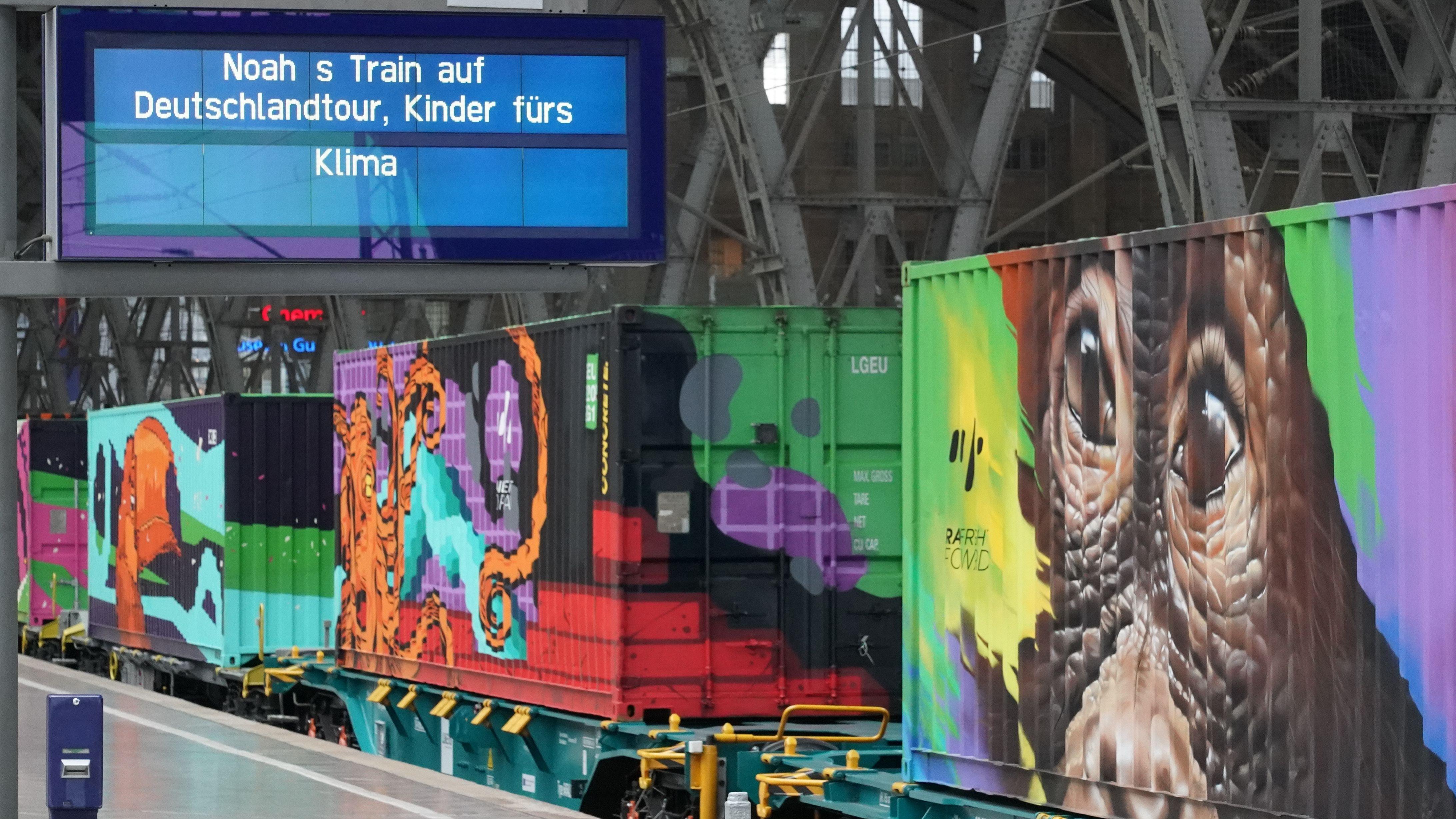 Noah's Train: Der Kinder-fürs-Klima-Zug gastiert in München (Foto aus Leipzig).
