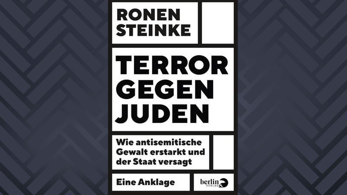 Schwarzweißes Buchcover: Ronen Steinke: Terror gegen Juden