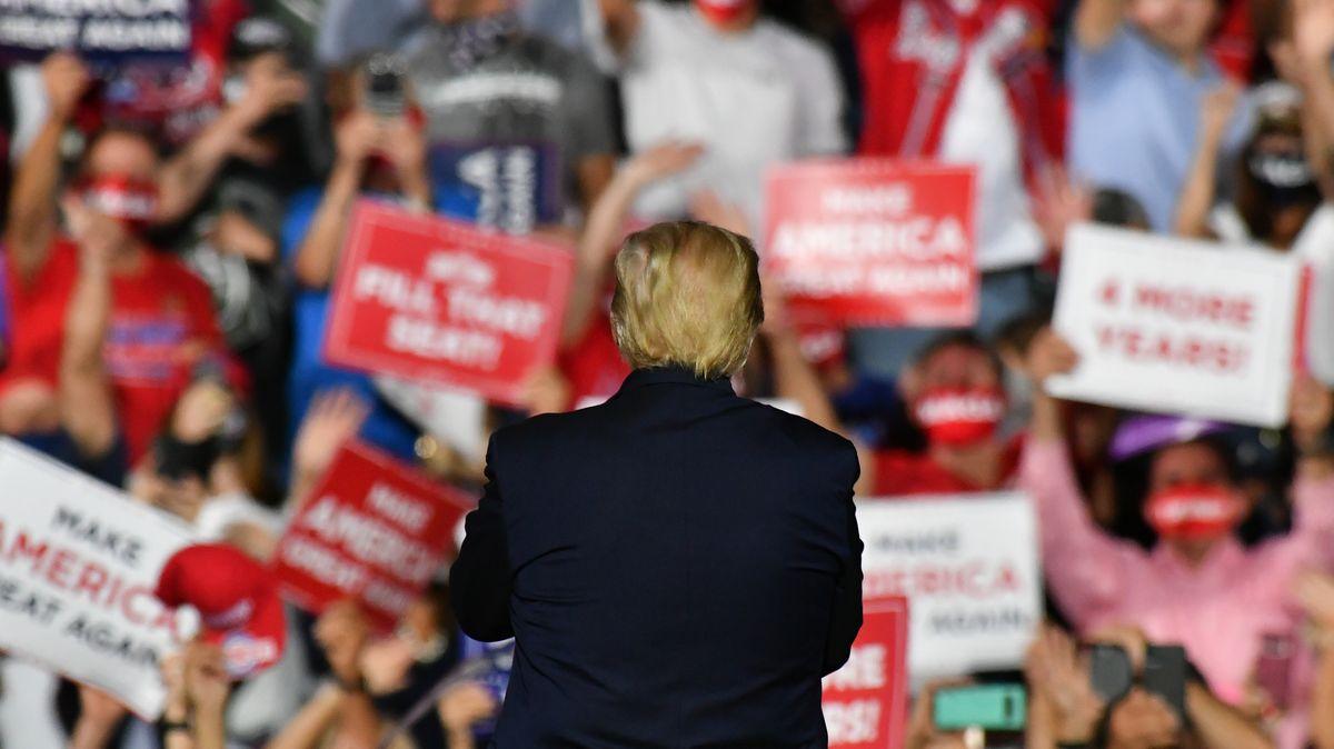 Trump bei einer seiner Rallies in Gastonia