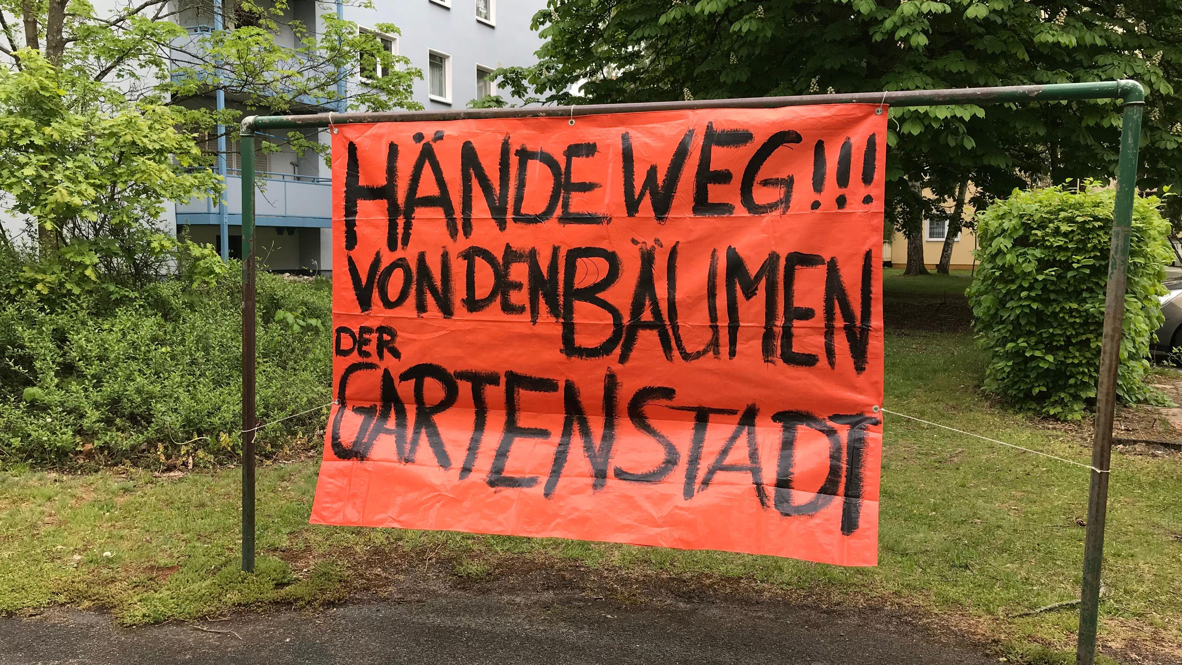 Protest der Anwohner gegen Nachverdichtung