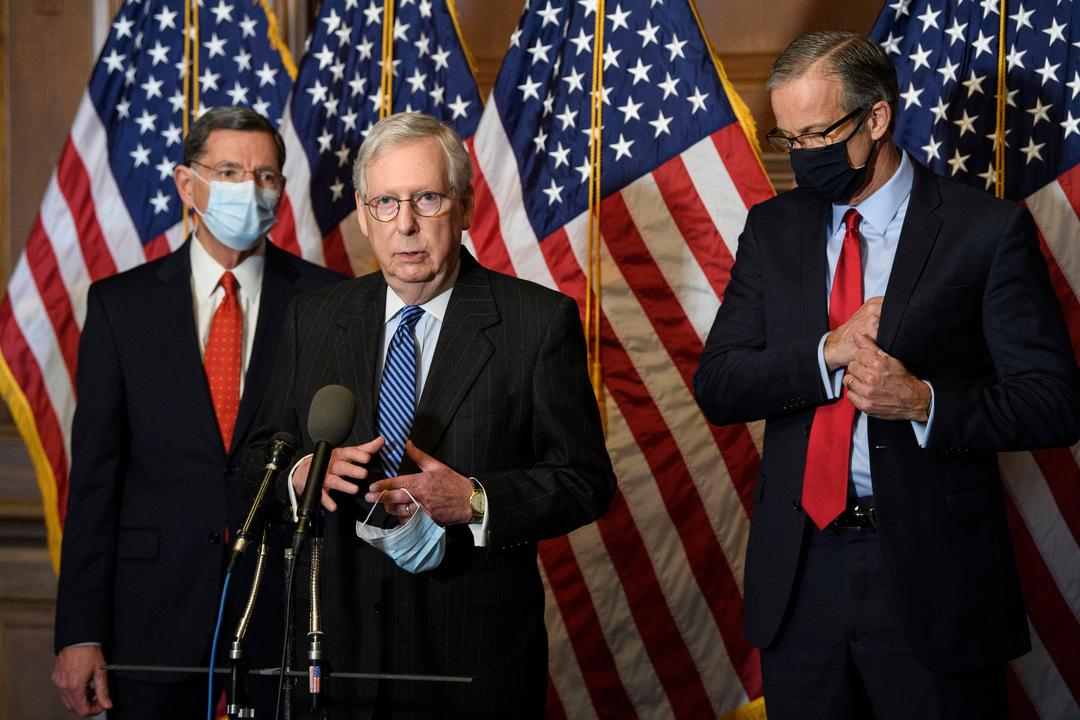 Attacke auf Senator McConnell : Trump beschimpft Führung der Republikaner