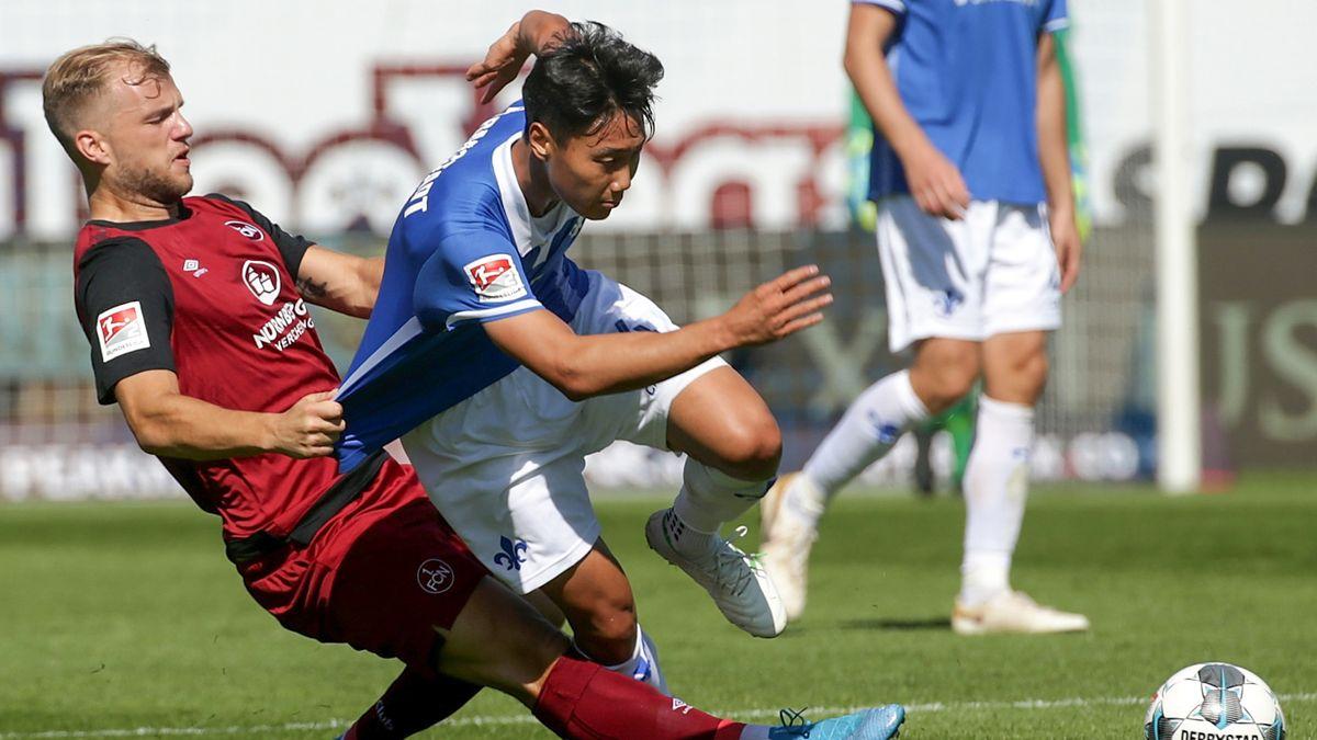 Spielszene Darmstadt 98 - 1. FC Nürnberg