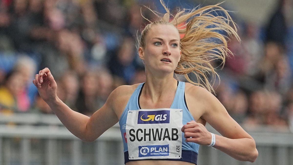 Corinna Schwab bei ihrem Lauf zur Deutschen Meisterschaft über 400 Meter.