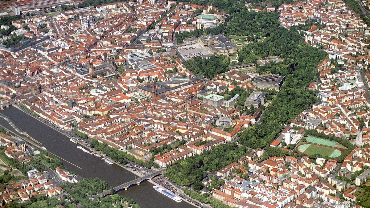 Luftaufnahme der Würzburger Innenstadt