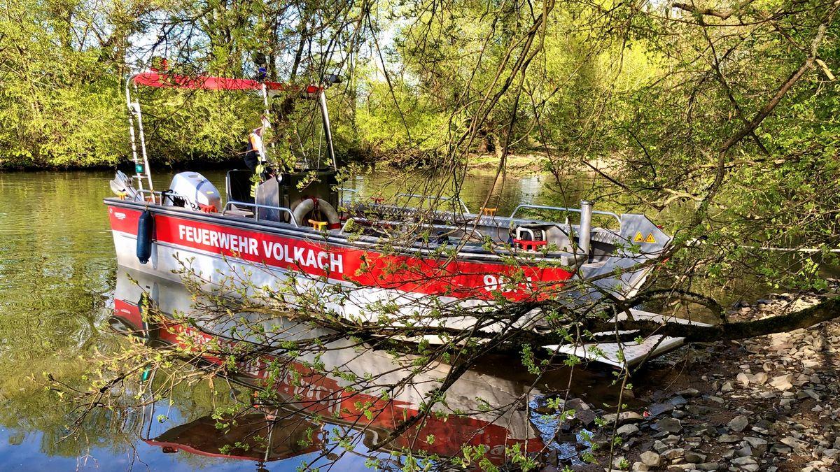 Rettungsboot der Feuerwehr Volkach