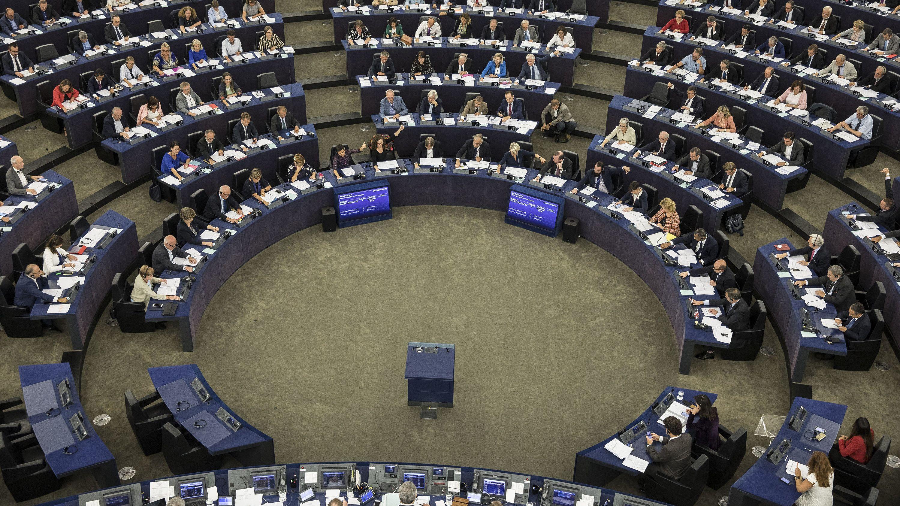 Blick ins Europäische Parlament