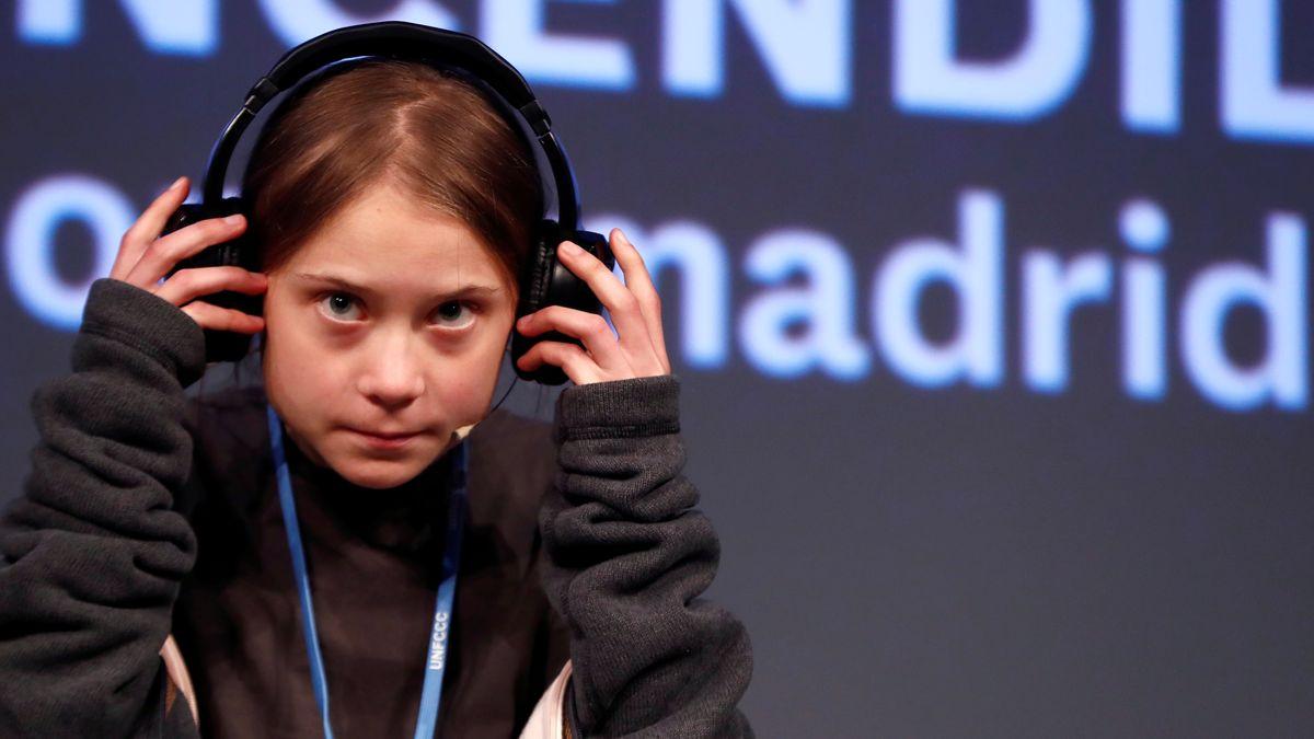Klimaaktivistin Greta Thunberg auf dem COP25-Klimagipfel in Madird