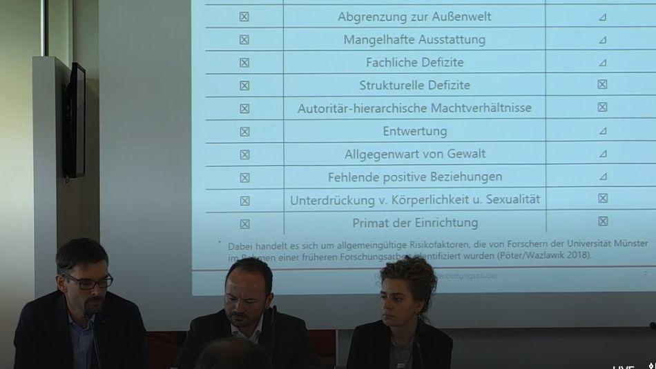 Die Autoren zweier Studien bei der Pressekonferenz