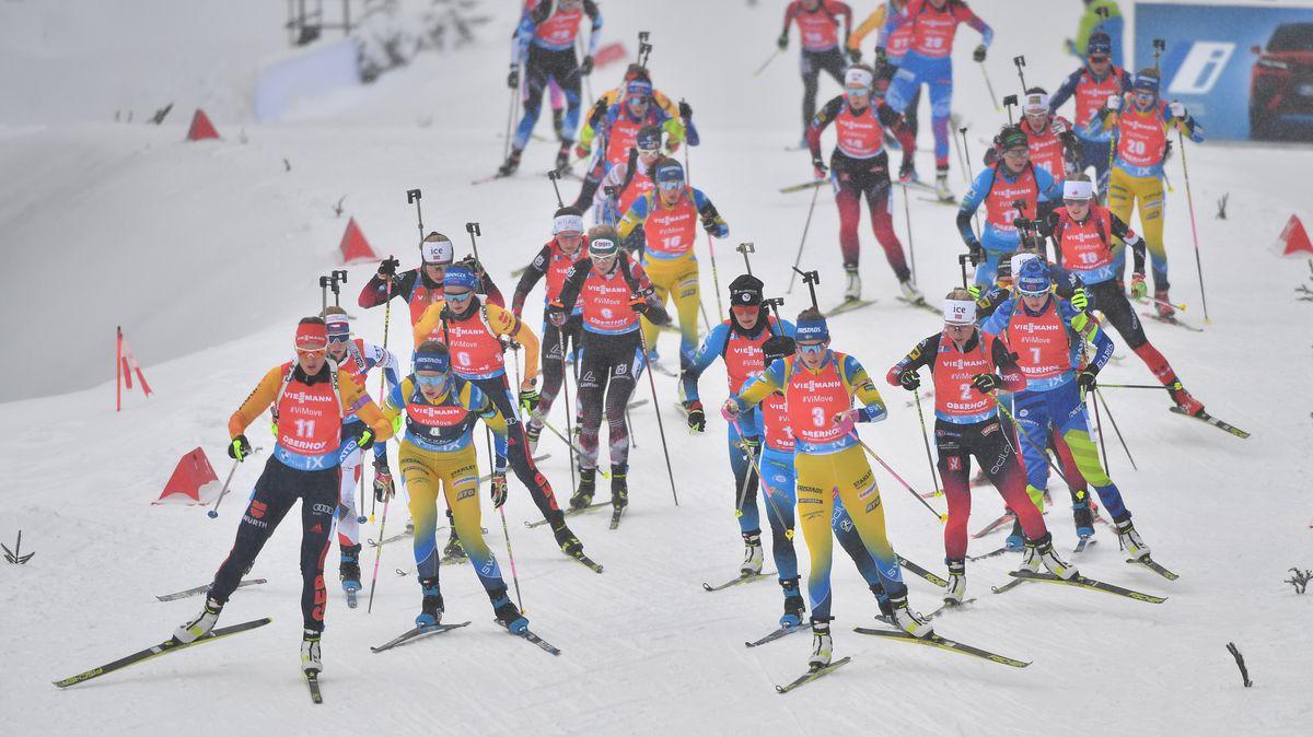 Biathlon-Rennen