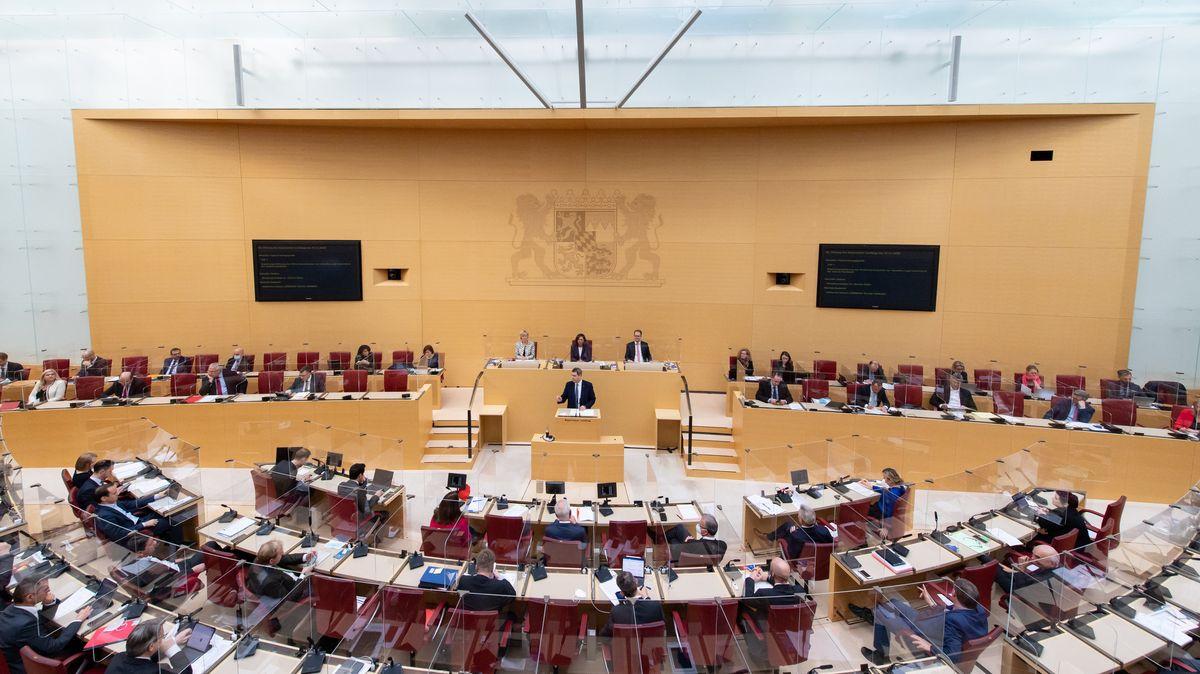 Sitzung im bayerischen Landtag