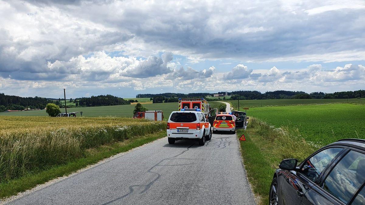 Unfallstelle bei Schmatzhausen