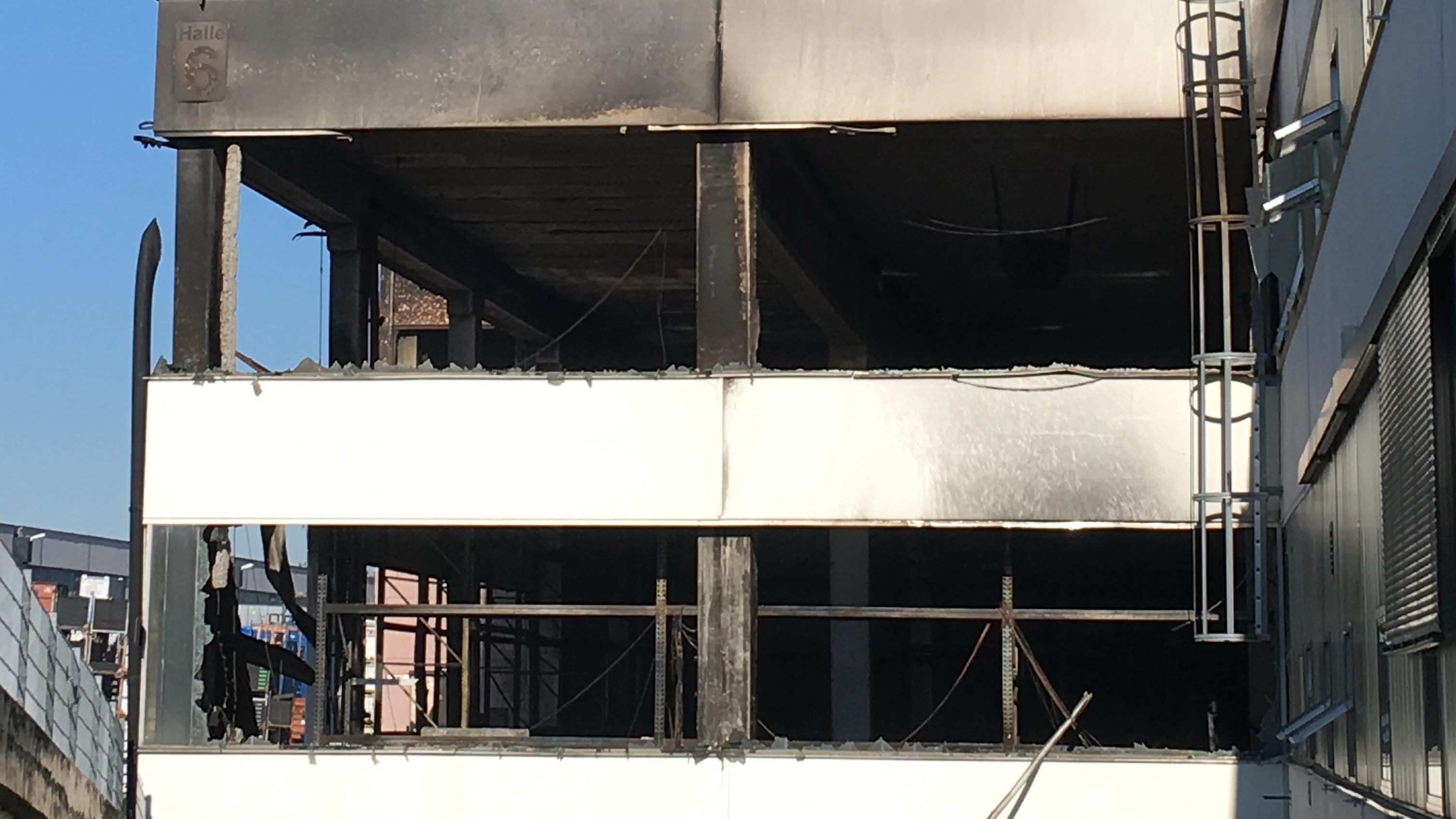 Schäden nach dem Brand im Depot des Deutschen Museums.