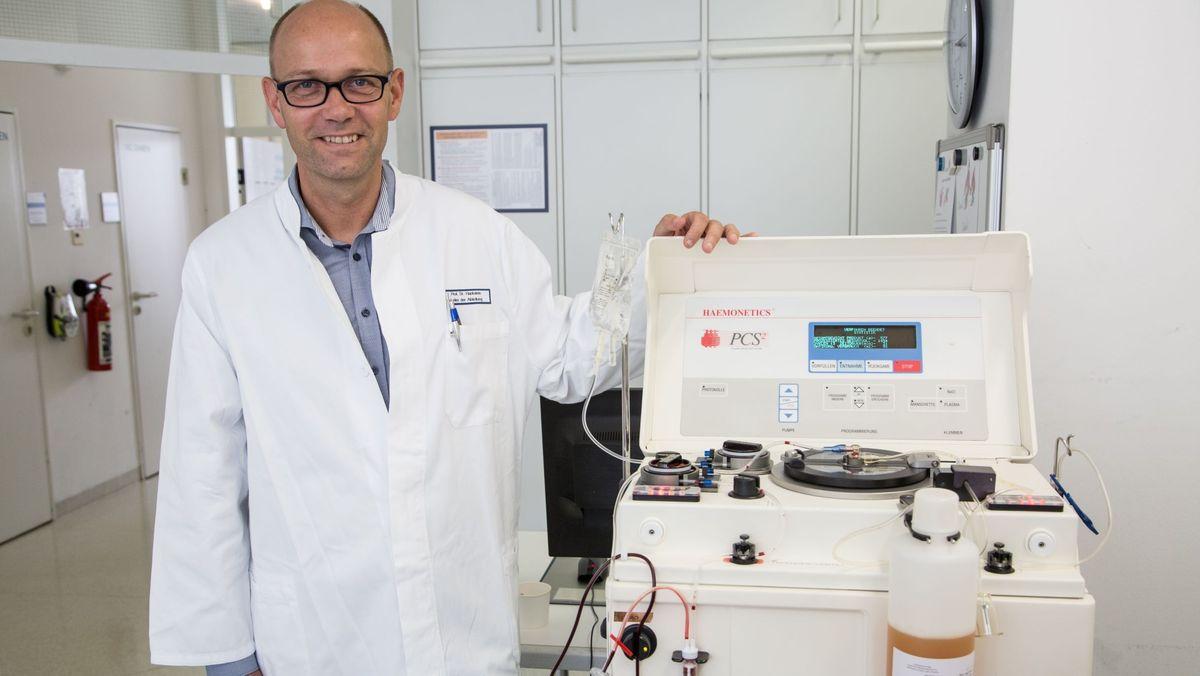 Uniklinik Erlangen darf Immunplasma herstellen