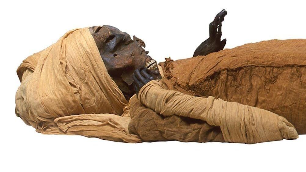 Die Mumie des ägyptischen Königs Seqenenre.