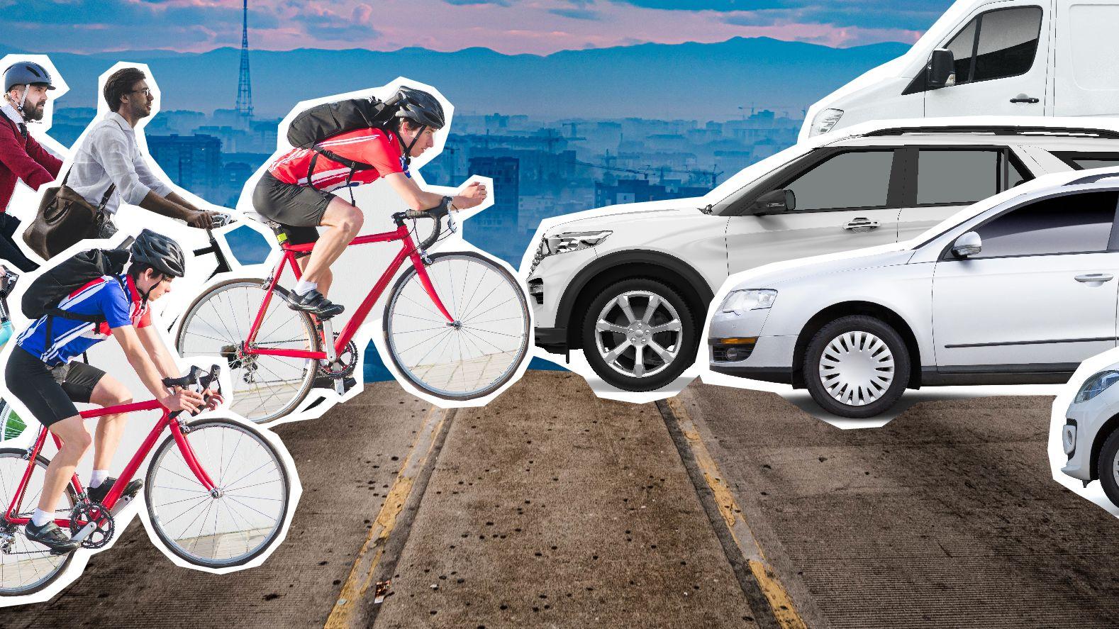 Auf Bayerns Straßen herrscht Krieg: Fahrrad gegen Auto.