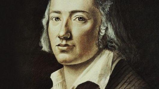 Friedrich Hölderlin in einem zeitgenössischen Gemälde