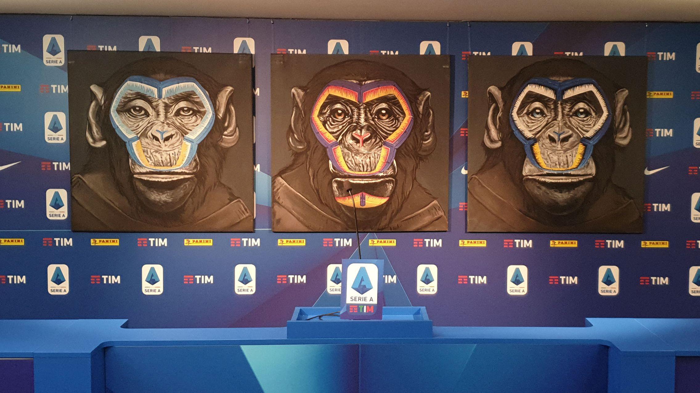 Die neue Kampagne gegen Rassismus zeugt die Abbildung von drei Affen.