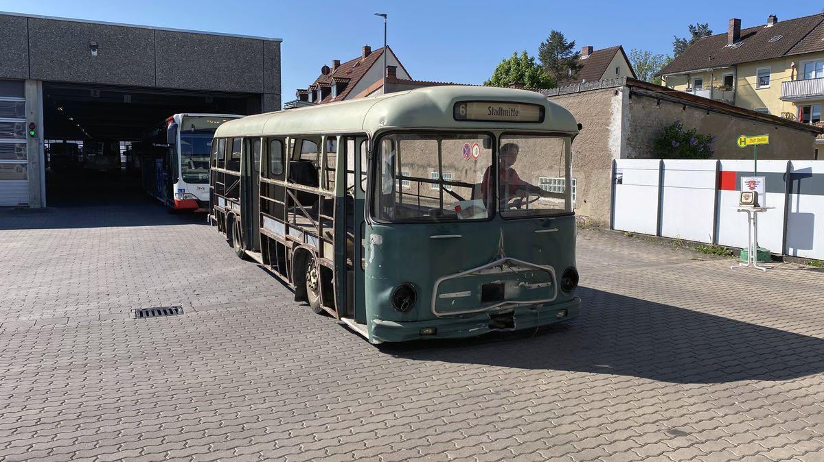 Ein alter Magirus-Deutz-Omnibus von 1963