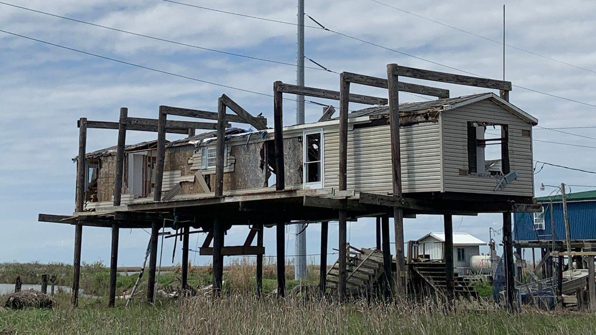 """Am 10.  Oktober 2020 ist der Hurrikan """"Delta"""" auf die Küste Louisianas geprallt."""