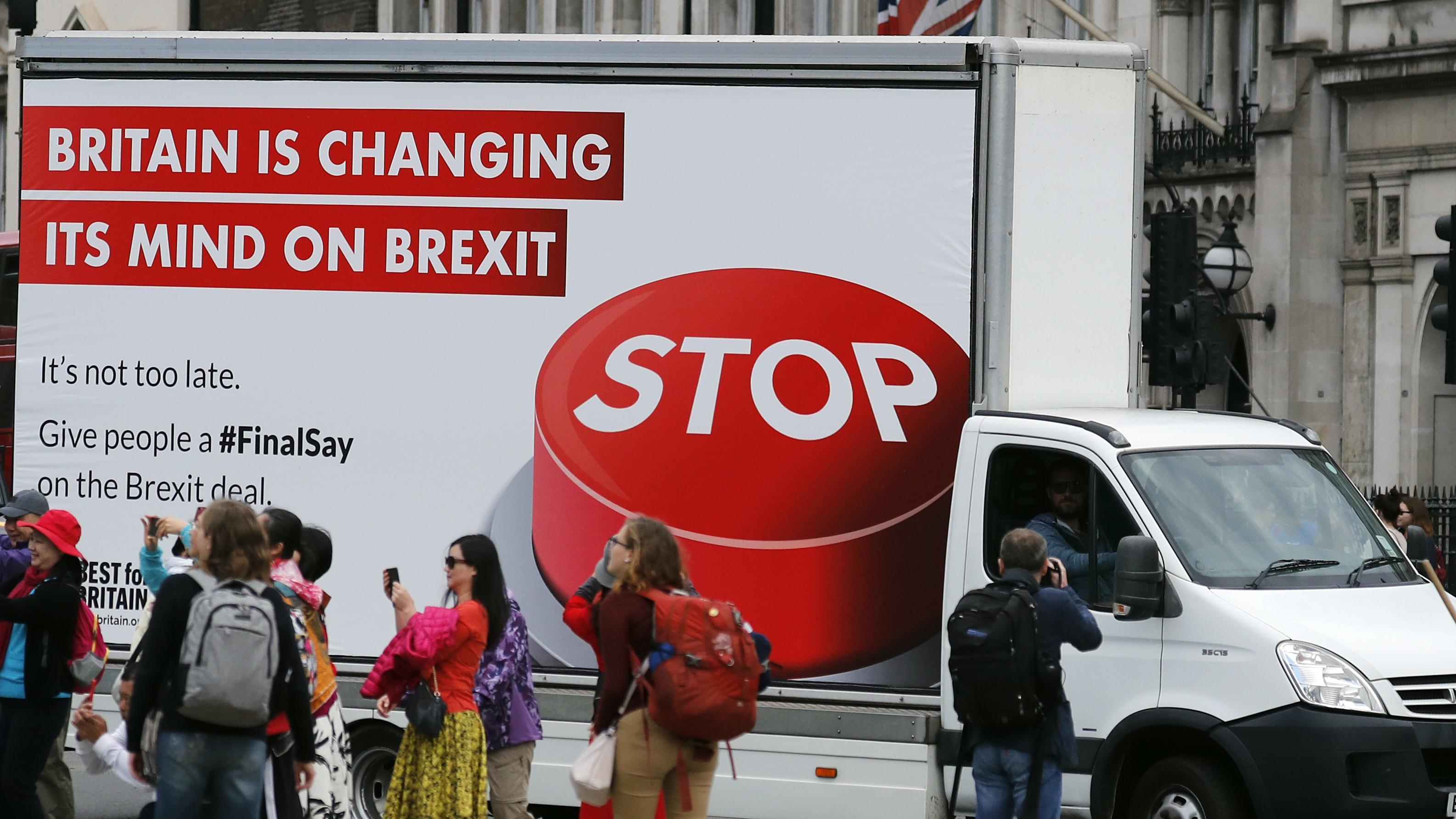 Werbeposter für ein neues  Brexit-Referendum