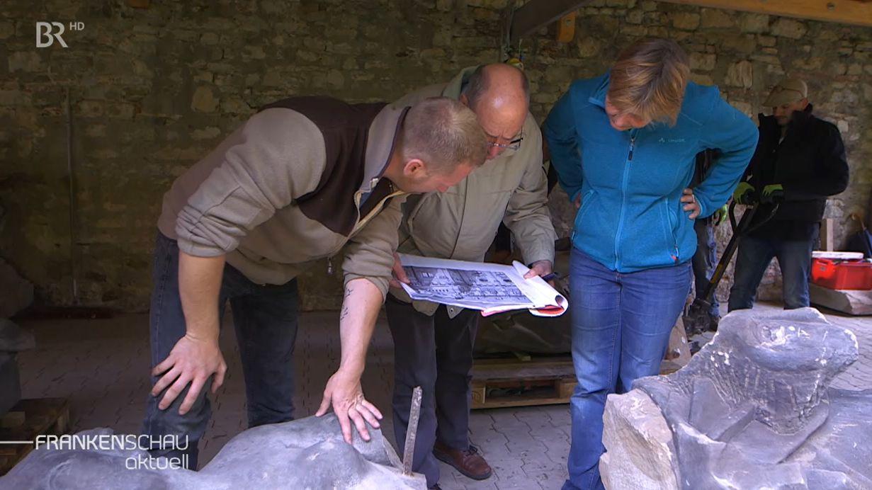 Steinfiguren in Würzburger Residenz wiedergefunden