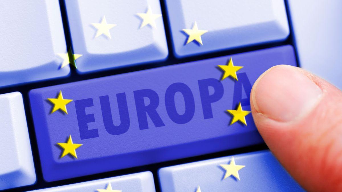 Europa auf Tastatur