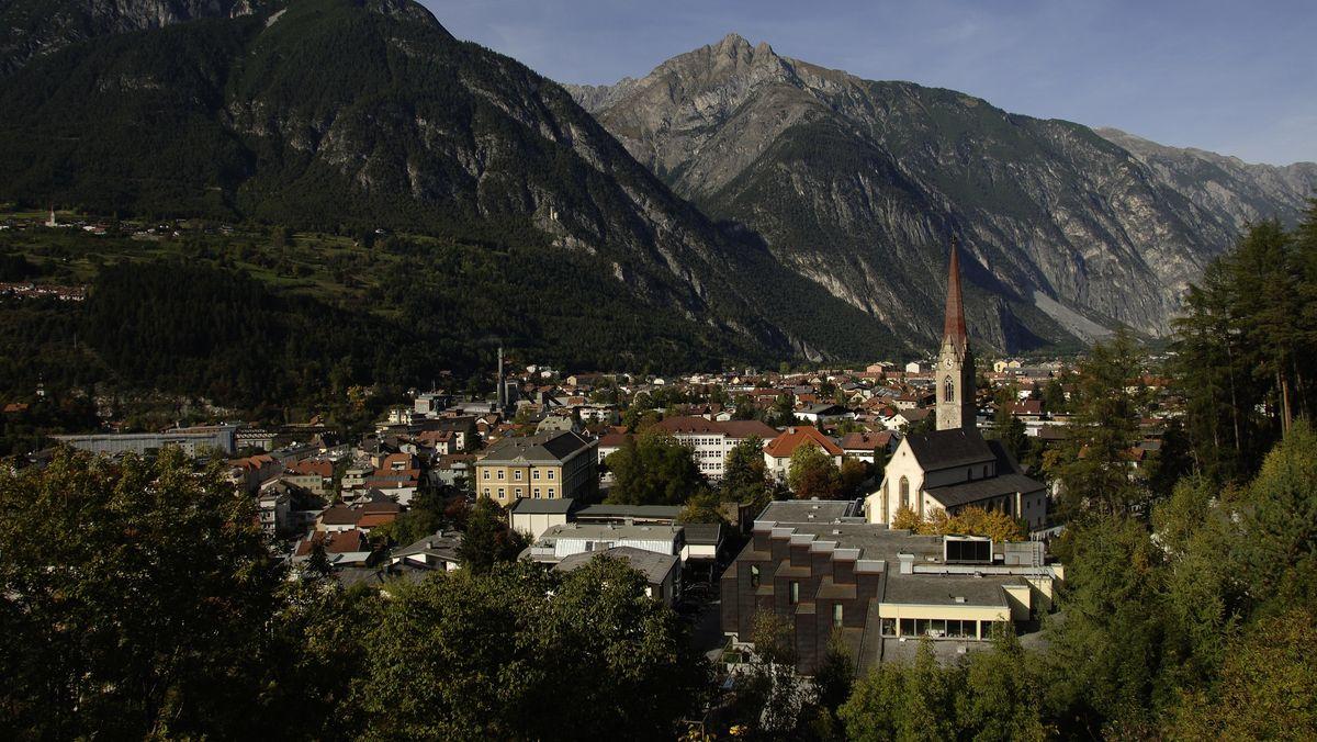 Blick auf Landeck in Tirol.