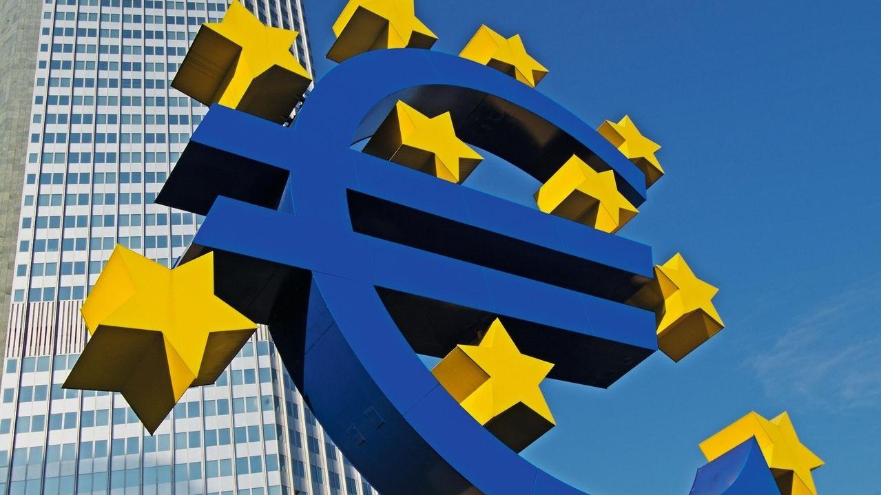 Euro-Skulptur in Frankfurt, Deutschland