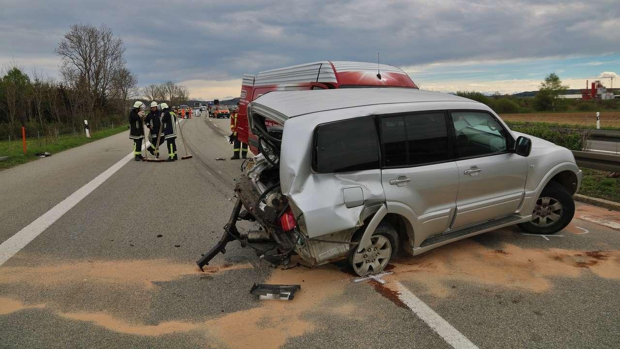 Unfall auf der A7 bei Wolfertschwenden