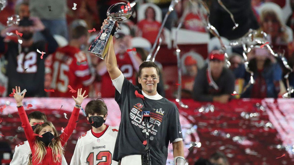 US-Football-Superstar Tom Brady feiert seinen 7. Titelgewinn.