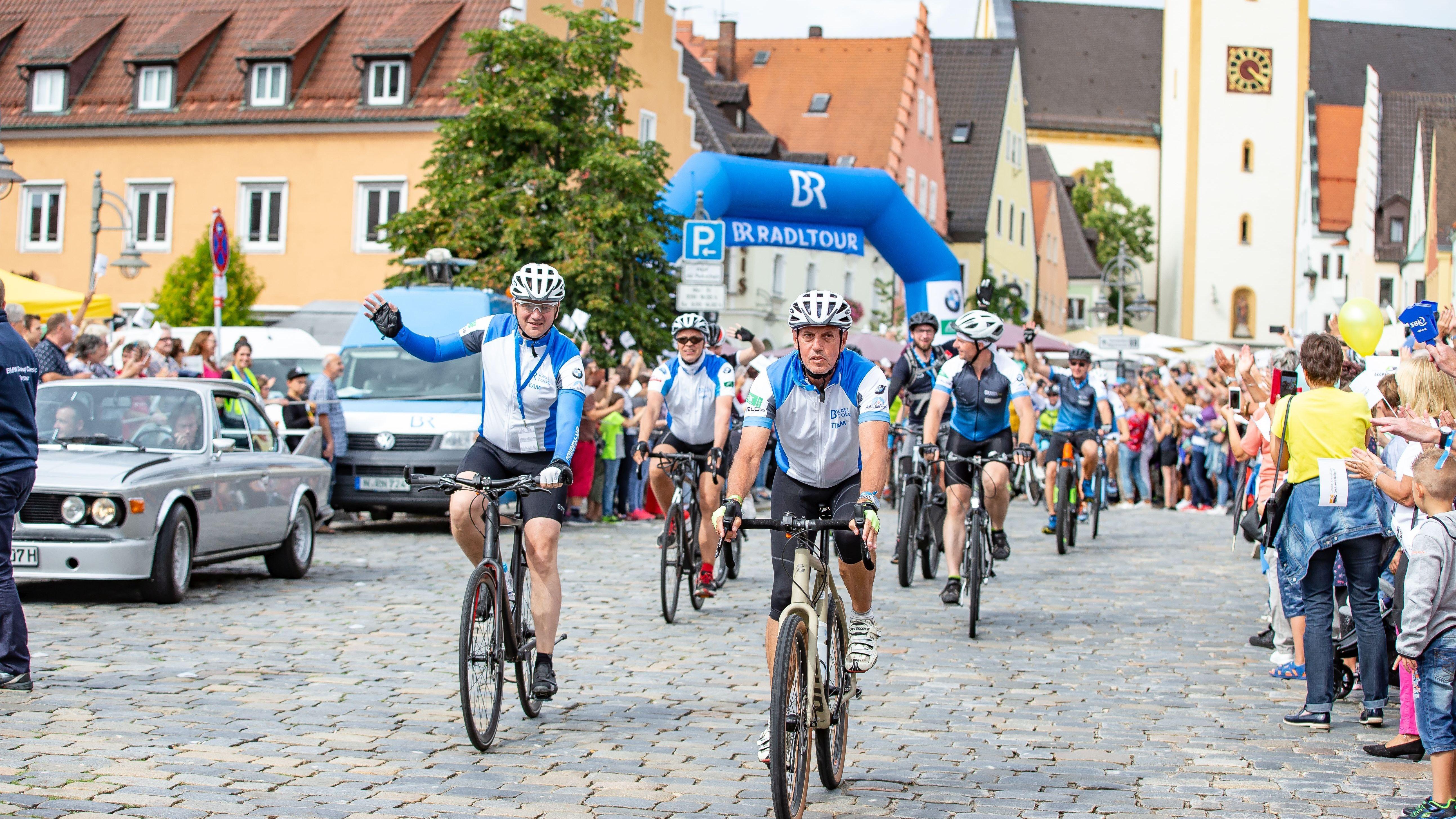BR-Radltour Ankunft in Schwandorf