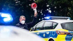 Corona-Einreisekontrollen der Bundespolizei   Bild:dpa-Bildfunk/Guido Kirchner