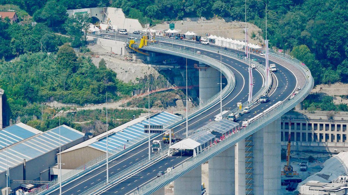 "Die neue Brücke ""San Giorgio"" bei Genua"