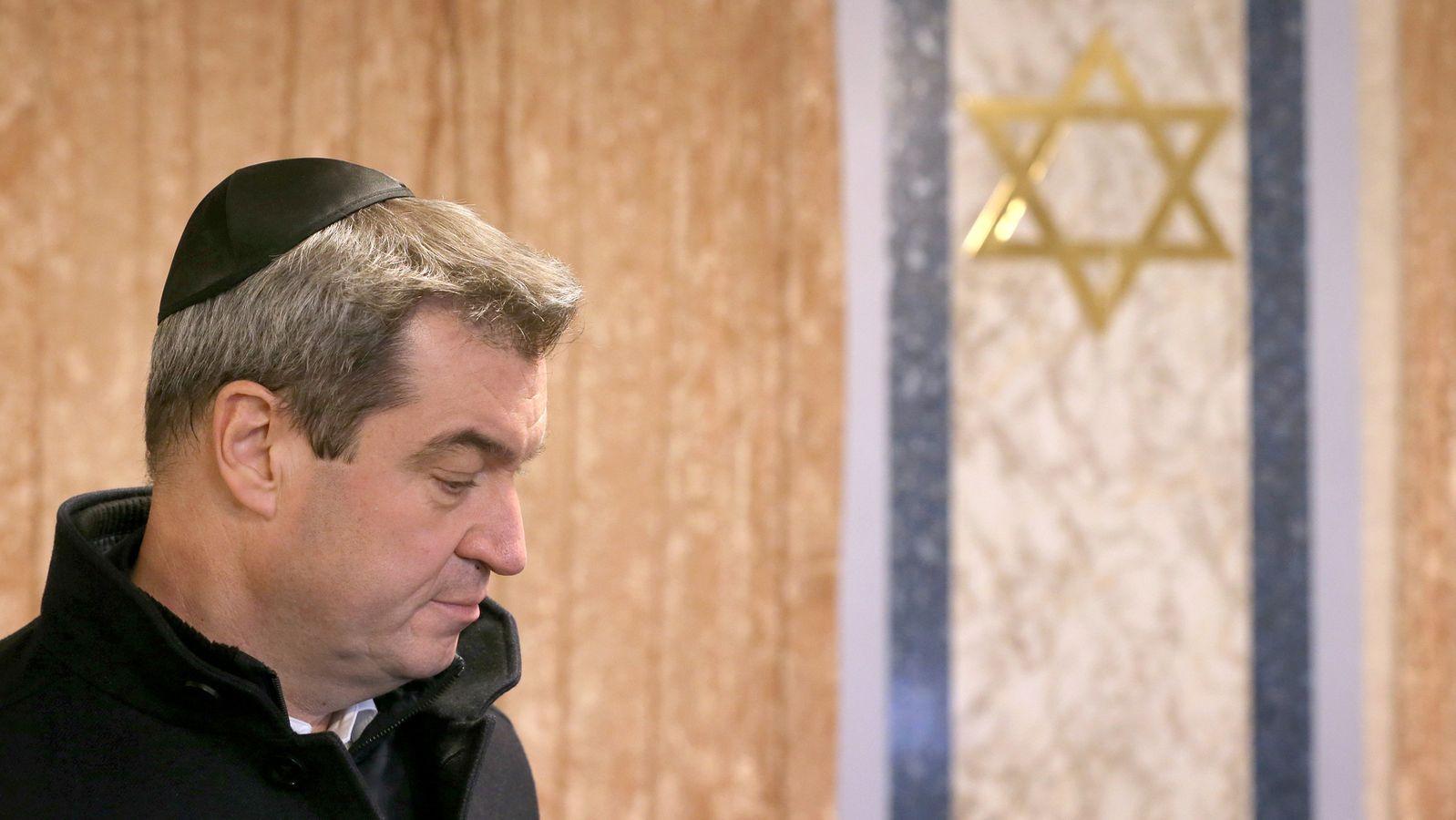 """Markus Söder will Sicherheit für Synagogen """"drastisch erhöhen"""""""