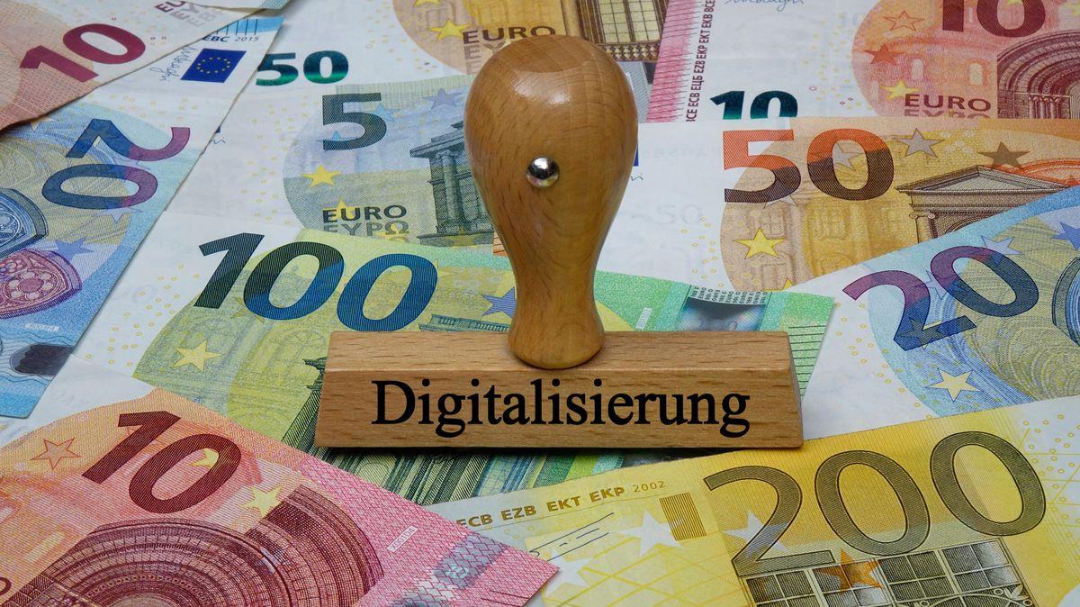 Stempel mit  Aufschrift Digitalisierung