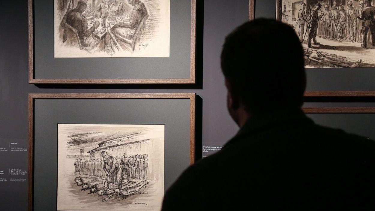 Archivbild: Ausstellung von David Olère in Oswiecim
