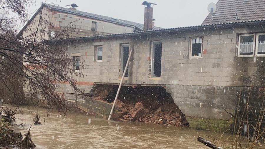 Hochwasser in Mittelsinn - Wasserwirtschaftsamt hatte gewarnt
