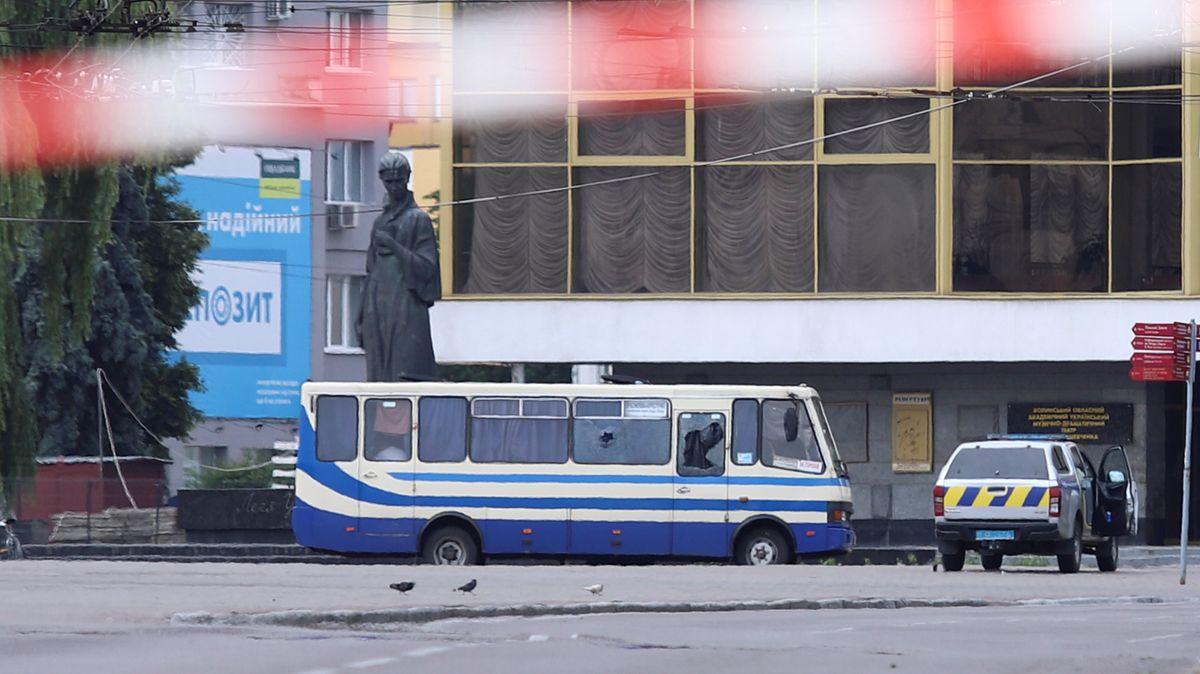 Der gekaperte Bus in Luzk