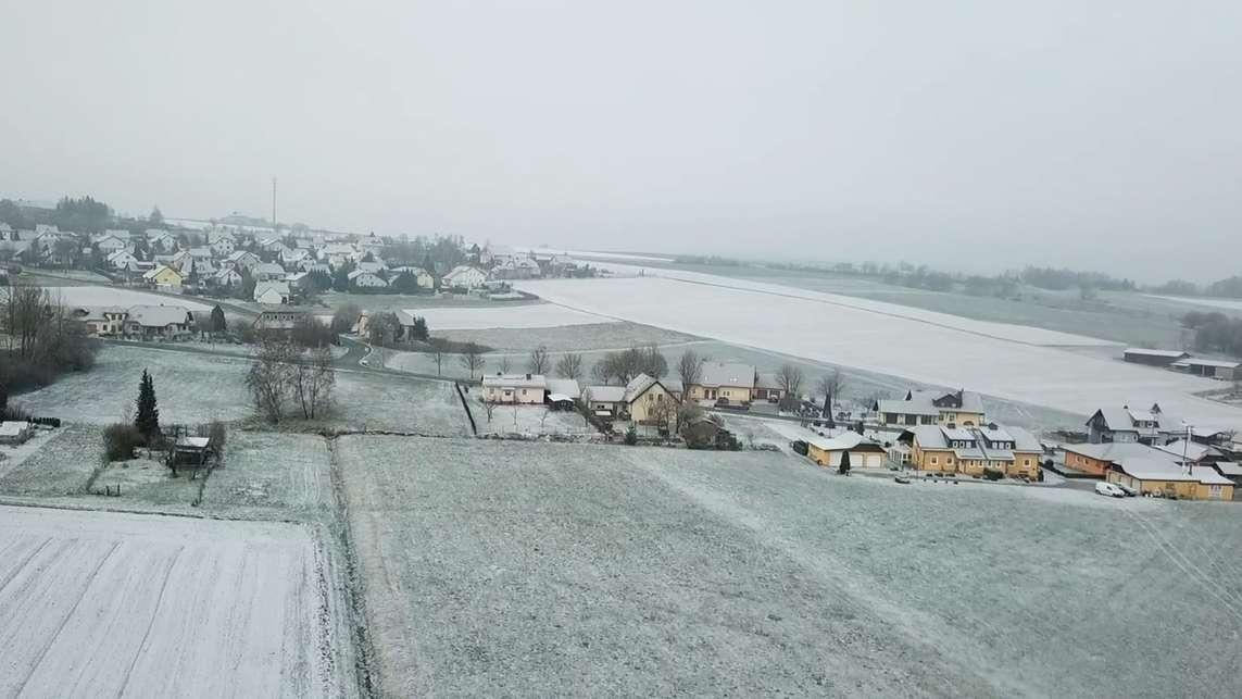 Schnee nach Frühlingsanfang in Berg (Lkr. Hof)