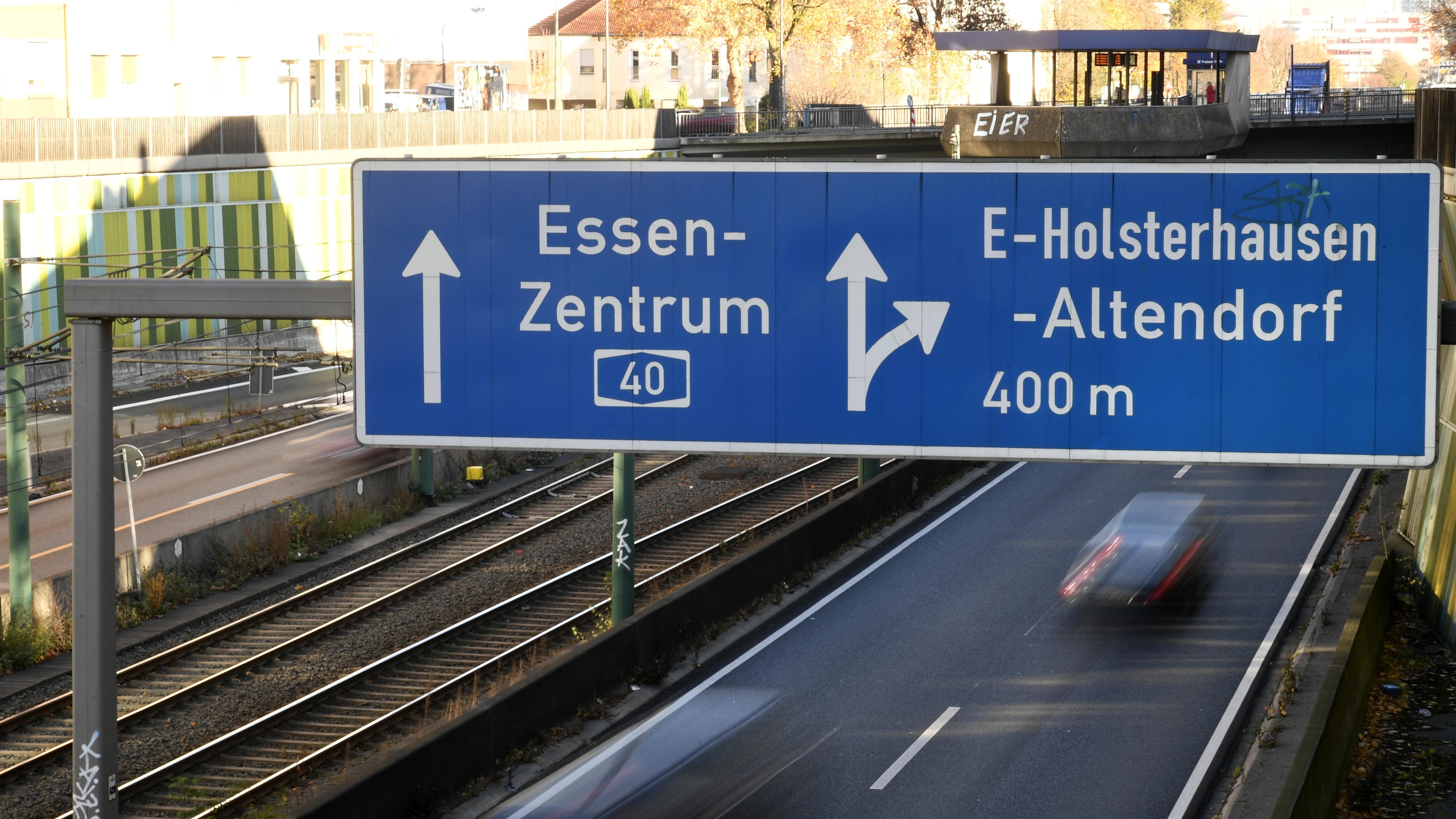 Autobahn A40, Nordrhein-Westfalen, Essen