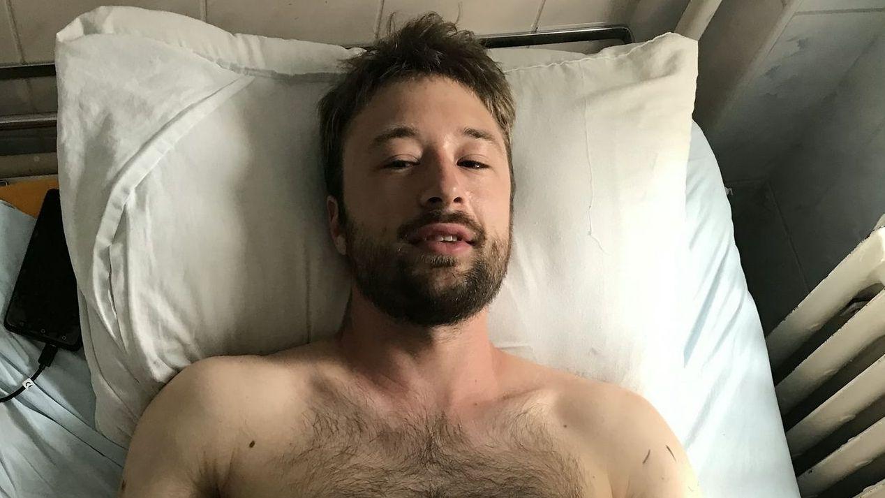 Der Niederbayer Andi Bauer nach dem Angriff im Krankenhaus