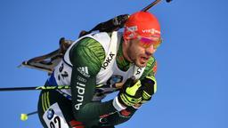 Arnd Peiffer brachte die Biathlon-Staffel der Männer nach vorne   Bild:picture alliance/dpa