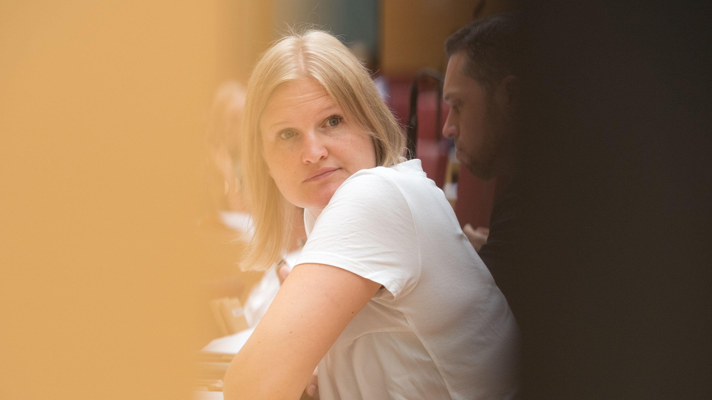 Katrin Ebner-Steiner, Vorsitzende der AfD-Landtagsfraktion, im Landtag